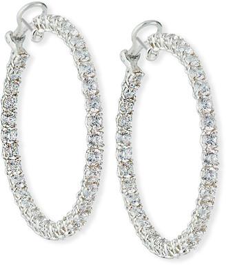 FANTASIA Cubic Zirconia Hoop Earrings, Extra Large
