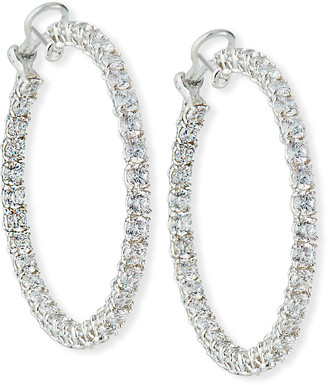 FANTASIA Cubic Zirconia Hoop Earrings, Extra Large