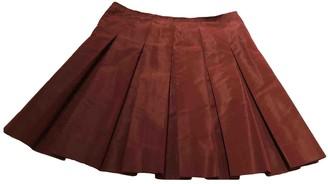 Prada Burgundy Silk Skirts