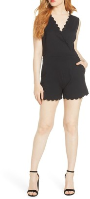 French Connection Lula Scalloped Trim Romper