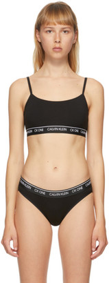 Calvin Klein Underwear Black CK One Unlined Bralette
