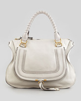 Chloé Marcie Large Shoulder Bag, Off White
