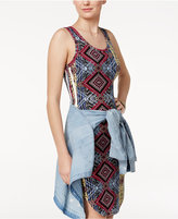 Ultra Flirt Juniors' Floral-Print Bodycon Dress