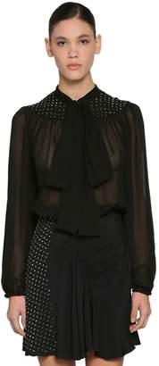 N°21 Studded Chiffon Blouse