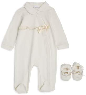 La Perla Kids Embroidered All-In-One and Booties Set