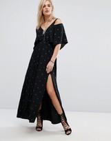 Chandelier Star Print Maxi Dress