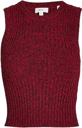 A.L.C. Marie Cropped Knit Tank Top