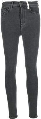 Current/Elliott High Waist Skinny Jeans