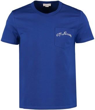 Alexander McQueen Chest Pocket Cotton T-shirt