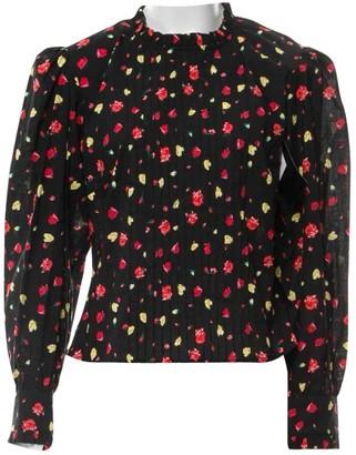Rixo Black Cotton Top for Women