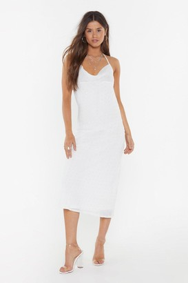 Nasty Gal Womens Dance to This Cowl Midi Dress - Ivory