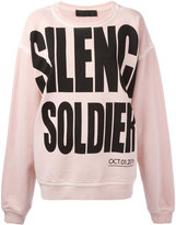 Haider Ackermann 'silence soldier' oversized sweatshirt