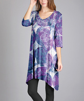 Aster Purple & Blue Sidetail Dress - Plus Too