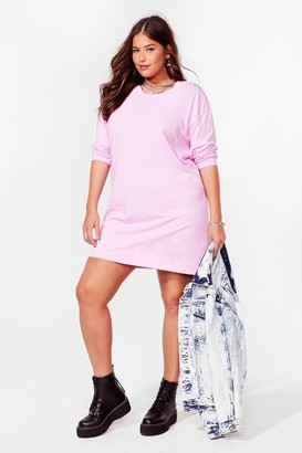 Nasty Gal Womens Sleeve Your Mark Plus Tee Dress - Lilac