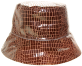 Nine West Brown Snake Skin Print Waterproof Bucket Hat