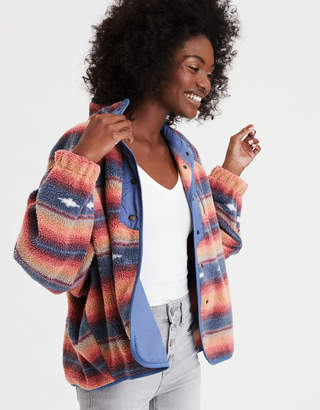AE Printed Fleece Jacket