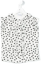 Dolce & Gabbana polka dot shirt - kids - Silk/Viscose - 2 yrs