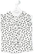 Dolce & Gabbana polka dot shirt - kids - Silk/Viscose - 6 yrs