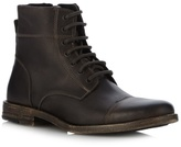 Ffp Grey Leather Seamed Toe Cap Boots