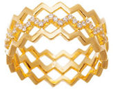 Lord & Taylor Cubic Zirconia Multi-Zigzag Ring