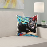 German Shepherd Dog on a Blanket Pillow Cover East Urban Home