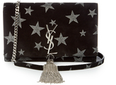 Saint Laurent Kate small star-embellished suede cross-body bag