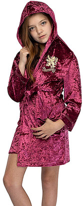 Intimo Girls' Sleep Robes - Harry Potter Red Gryffindor Velvet Hooded Robe - Girls