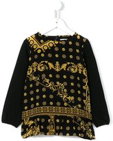 Young Versace - 'Majolica' print blouse - kids - Silk/Cotton/Spandex/Elastane - 11 yrs