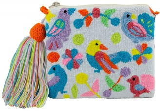 Mama Tierra Pajaritos Pouch S White/Pastel Accents
