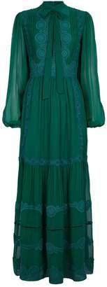 Costarellos Silk Chiffon Dress