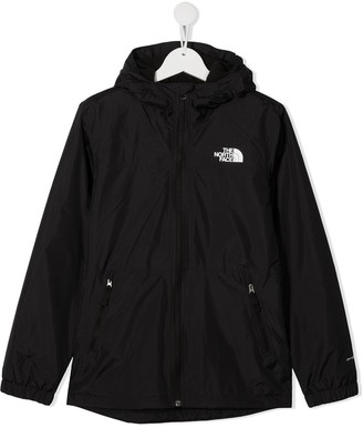 The North Face Kids TEEN logo-print hooded jacket