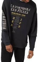 Topman Men's Worldwide Print Sweatshirt