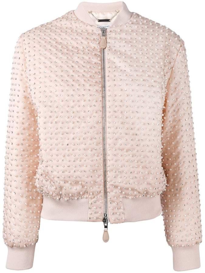 Givenchy pearl embellished bomber jacket