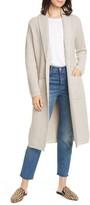 Jenni Kayne Fisherman Wool & Cashmere Tie Waist Long Cardigan Sweater
