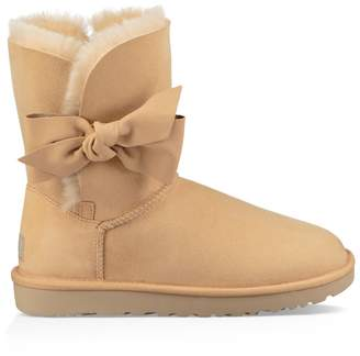 UGG Daelynn Leather Ankle Boots with Sheepskin Lining
