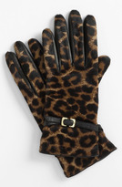 Diane von Furstenberg Buckled Calf Hair Gloves