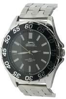 Slazenger Men's Quartz Watch with Black Dial Analogue Display and Silver Bracelet SLZ158/A