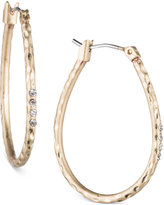lonna & lilly Gold-Tone Textured Oval Hoop Earrings