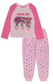 AME Trolls Little and Big Girls Trolls 2-Piece Pajama Set