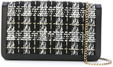 Casadei woven flap shoulder bag
