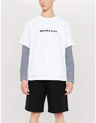 Lifes A Beach Strip Backwards cotton-jersey T-shirt