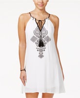 Speechless Juniors' Embroidered Peasant Shift Dress