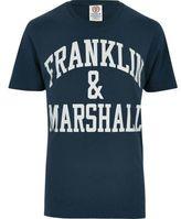 River Island MensNavy Franklin & Marshall print T-shirt