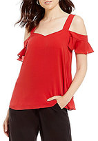 Antonio Melani Natalia Crepe Cold Shoulder Blouse