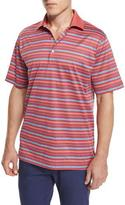 Peter Millar Sandy Striped Cotton Lisle Polo Shirt, Red