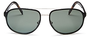 Prada Men's Polarized Brow Bar Aviator Sunglasses, 60mm