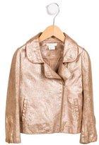 Chloé Girls' Suede Moto Jacket