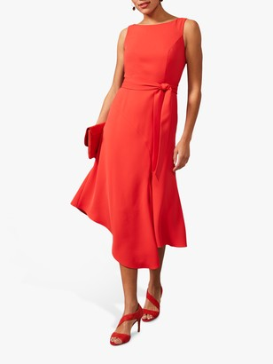 Phase Eight Tamara Asymmetric Hem Dress, Fire