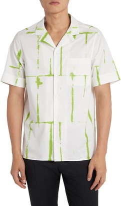 Valentino Squared Rope Short Sleeve Button-Up Camp Shirt