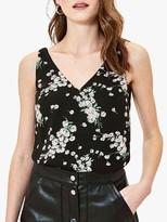 Oasis Dandelion Print Vest Top, Black/Multi